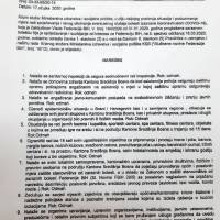 Naredba Kriznog stožera Ministarstva zdravstva i socijalne politike KSB