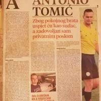 """Večerni list"" o Antoniju Tomiću"
