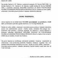 """Javna rasprava - okolišna dozvola za """"Forest"""" d. o. o. Kreševo"""