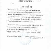 Općinsko izborno povjerenstvo, obavijest o mogućnosti provjere