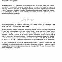 """Javna rasprava - """"Sarajevski kiseljak"""" d.d., izgradnja punionice negazirane mineralne vode"""