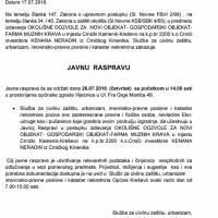 Najava: javna rasprava, okolišna dozvola za farmu muznih krava u Crnićkom Kameniku