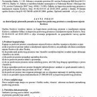 Javni poziv za dostavljanje pismenih ponuda - kupovina poslovnog prostora u naseljenom mjestu Kreševo