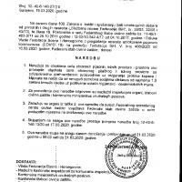 Naredba Federalnog stožera Civilne zaštite o obustavi rada tržnica