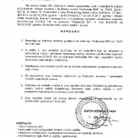 Naredba Federalnog stožera Civilne zaštite - zabrana kretanja od 18 do 5 sati