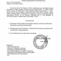 Federalni stožer Civilne zaštite: Naredba o zabrani rada privatnih stomatoloških ordinacija i laboratorija