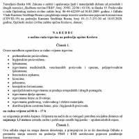 Općinski stožer Civilne zaštite - Naredba o načinu rada trgovina