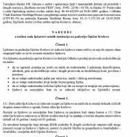 Općinski stožer Civilne zaštite - Naredba o načinu rada ljekarni i ostalih institucija