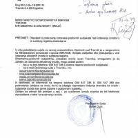 Obavijest o postupanju stranaka - poslovnih subjekata radi izdavanja izvoda iz sudskog registra