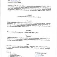 Odluka o skraćenom radnom vremenu Općine Kreševo