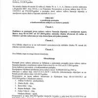 Odluka o poništenju postupka - sanacija deponija na Bukci