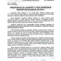 """Priopćenje za javnost JKP """"Kostajnica"""" - izgradnja mikropostrojenja na RK-3"""