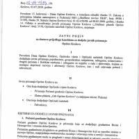 Javni poziv za dostavu prijedloga kandidata za dodjelu javnih priznanja Općine Kreševo