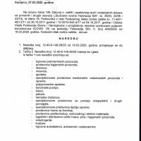 Produžen rok za Naredbu od 19. III. (o obustavi rada djelatnosti trgovine)