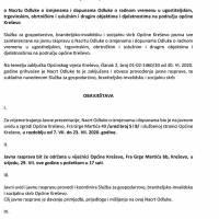 Poziv na javnu raspravu - Nacrt Odluke o izmjenama i dopunama Odluke o radnom vremenu u ugostiteljskim, trgovinskim, obrtničkim, uslužnim i drugim objektima na području općine Kreševo