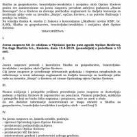 """Poziv na javnu raspravu - davanje prethodne suglasnosti za dodjelu koncesije za korištenje pitke vode sa izvorišta """"Banja"""""""