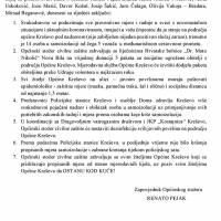 Zaključci sa sjednice Općinskog stožera Civilne zaštite (7. IV.)