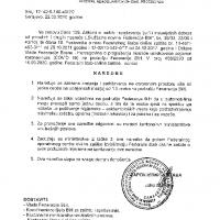 Naredba Federalnog stožera Civilne zaštite -  zabrana kretanja i zadržavanja na javnom prostoru na udaljenosti manjoj od 1,5 metra