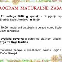 Program maturalne zabave