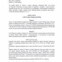 Odluka o izboru najboljeg ponuditelja - dodatni radovi na sanaciji klizišta na lokalnom putu Crnići - Crnićki Kamenik